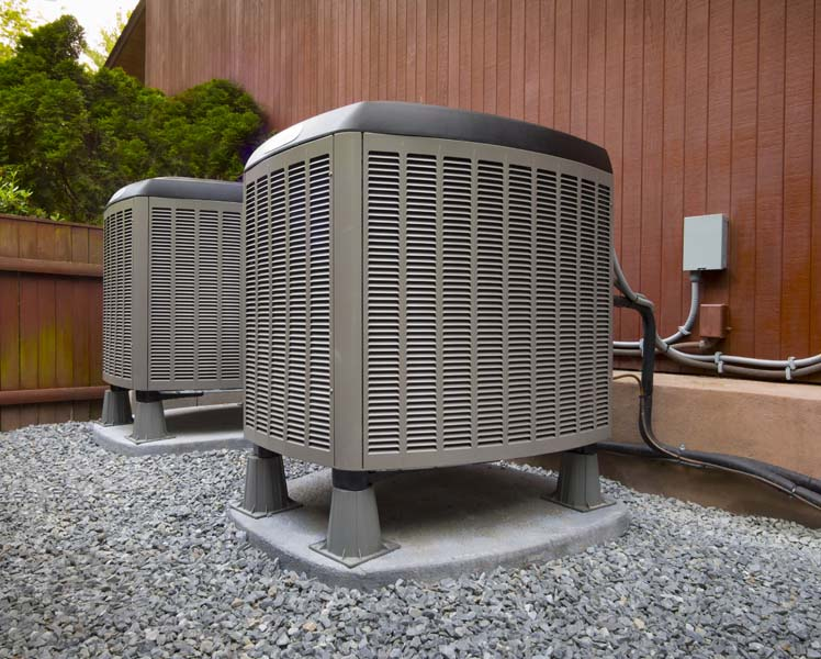 HVAC heating and air conditioning residential units.