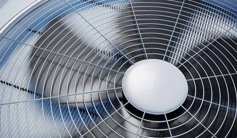 Close up view on HVAC units (heating
